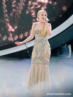 "Hollie Cavanagh performs ""The Power Of Love"" by Celine Dion at the Top 11 performance show."