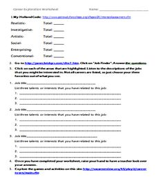 Printables Career Exploration Worksheet career exploration activity using the clusters activities inspired counselor upper elementary unit webquest with links to worksheet