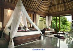 The Garden Villa at Pita Maha in Ubud in Bali - I visited briefly in 2010. It's simply gorgeous.