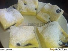 This mysterious Czech dessert looks delicious. I wish I could understand the recipe! Czech Desserts, Sweet Desserts, Sweet Recipes, Slovak Recipes, Czech Recipes, Kolaci I Torte, Sweet Cakes, Desert Recipes, Amazing Cakes