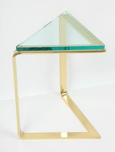 Brass Triangle Table by Pace 3