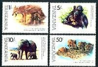 Celebrity Animals Mint Set of 4 Stamps Tanzania, 1982