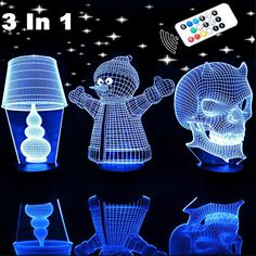 Lamp for Kids With Timer Function, McWorks Remote Control Bedside Night Lights, Adjustable Brightness and 7 Colors (Three Acrylic Plates) -- Continue to the product at the image link. (This is an affiliate link) Ceiling Fans, Ceiling Lights, Lampe 3d, Home Budget, Nightlights, Bedside, Remote, Image Link, Bright