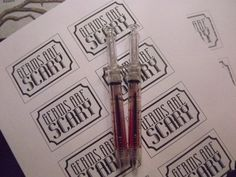 Syringe pens  Murder Mystery Party Ideas: CreateItGirl.Tumblr.com