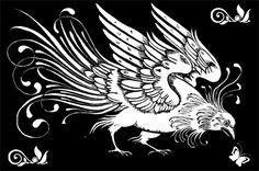 art deco bird Digital download graphics by DigitalGraphicsShop