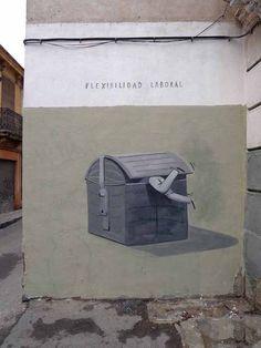 """Escif – """"Flexibilidad Laboral"""", Valencia"""