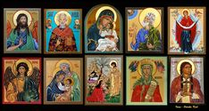 Icons by Odarka Kish Byzantine Icons, Behance, Drawings, Artwork, Painting, Work Of Art, Auguste Rodin Artwork, Painting Art, Sketches