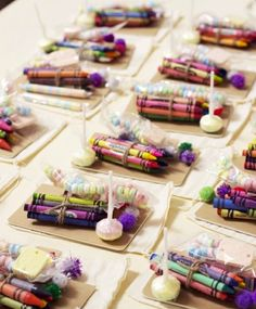 """For kids at the reception. Supply a blank card and this fun """"kid kit"""" to """"color a card for the bride and groom"""" So cute!!"""