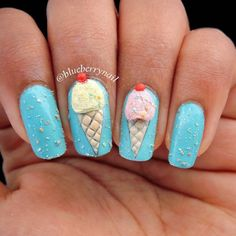25 Delicious and Cute Ice Cream Nails #naildesignideaz #naildesign #nailart #icecreamnaildesign #icecreamnails ♥ If you enjoyed my pin, pls visit us at http://naildesignideaz.com/ ♥