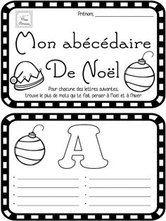 Produit gratuit! Abécédaire de Noël pour les élèves du premier cycle Teaching French, Christmas Activities, Activities For Kids, Core French, French Christmas, French Lessons, Too Cool For School, Book Of Life, Alphabet