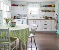 Cottage kitchens - cozy, happy and unpretentious, it harks back to simpler times and evokes a sense of easy, carefree living. Beadboard, soft colors, vintage hardware, wood floors and colorful accents and curtains will infuse your kitchen with cottage comfort.
