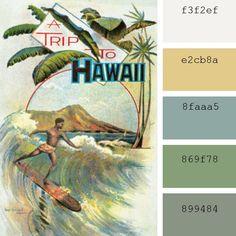 #Paletas de #colores #Pantone: #azul surf