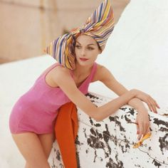 Tom Palumbo - glamour on the beach, for Vogue - model Anne St. Marie, 1959