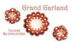 Grand Garland Beaded Wreath Tutorial by LisaJordanDesigns on Etsy