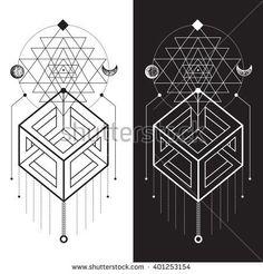 Sacred Geometry. Magic totem, sacred symbols,geometry,sacred, harmonic,geometric shapes,vector, background elements,icons, technical illustrations, vector decorations,vector designs - stock vector