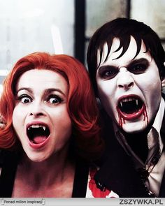 Helena Bonham Carter and Johnny Depp in Dark Shadows