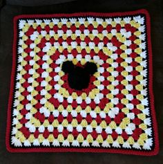 Mickey Mouse Crochet Baby Blanket Pattern : 1000+ images about cobijas crochet on Pinterest Afghans ...