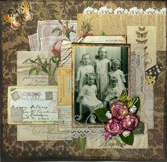 Memories...great layering of mementos and ephemera on this charming and feminine layout.