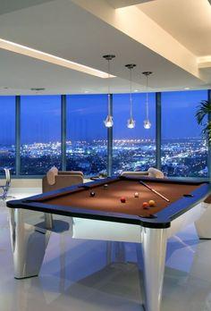 Luxury Space Custom Pool Tables, Pool Table Room, Modern Pools, Game Room Design, Billiard Room, Entertainment Room, Luxury Living, Family Room, House Design