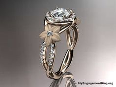 14kt rose gold diamond engagement ring - My Engagement Ring