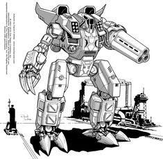 An original design by me, made for Battletech TRO 3085. I was heavily art directed on this one but I think it has a few bits that are pretty cool.