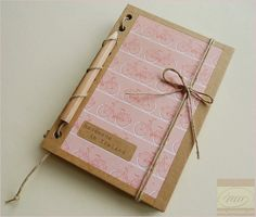 Cyclists Journal with Mini Pencil - Pink Bicycles Notebook - Recycled Kraft Paper Sketchbook - Handmade in Ireland