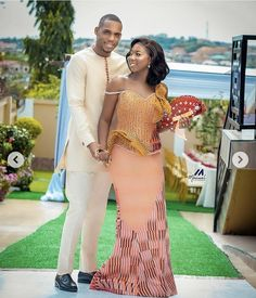 African Traditional Wedding, Traditional Fashion, Kente Dress, Kente Styles, Kaftans, Engagements, Wedding Couples, Couple Goals, Glamour