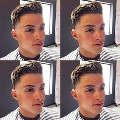 Barbershop Hairstyles - Low Fade with Brush Up