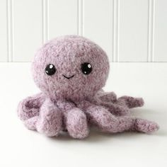 Surf's Up! 1: Lobster, Octopus, Clam Felted Knit Amigurumi Pattern, 4 inch