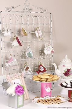 Host a tea party and display your tea cups so everyone can choose her own pattern to drink from.