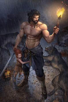 Based on aenaluck art work: Uncle Carl Animated in DP Animation Maker Uncle Carl - Animated Version Fantasy Warrior, Fantasy Art Men, Fantasy Rpg, Medieval Fantasy, Fantasy Artwork, Fantasy World, Warrior Concept Art, Fantasy Town, Fantasy Places