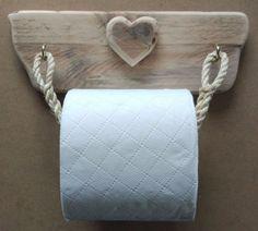 Rustic & Raw Toilet Roll Holder Cradle Wood Driftwood Rustic Heart Cute Shabby | eBay