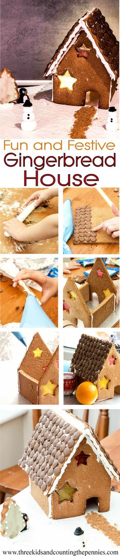 A Fun and Festive Gingerbread House: a simple, child-friendly Christmas Gingerbread House recipe with step-by-step instructions.