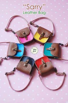 Momoko Doll Handmade Mini Sarry Leather Bags with by YlangGarden