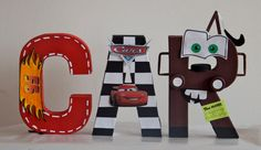 Disney Letters 8 CARS Theme by AdhuCreations on Etsy, $13.00