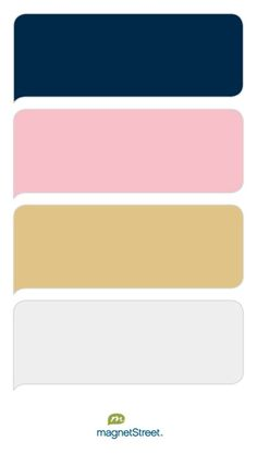 Navy, Carnation, Gold, and Winter White Wedding Color Palette - custom color palette created at MagnetStreet.com