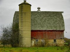 Silo and barn, likely Wisconsin, by Eric, Accretion Point on  Flickr