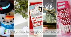 16 DIY ideas for homemade gifts for neighbors (or others I don't wanna spend too much $$ on) :o)
