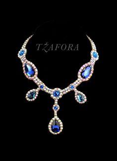 Swarovski ballroom necklace. Ballroom jewelry, ballroom accessories. www.tzafora.com Copyright © 2014 Tzafora