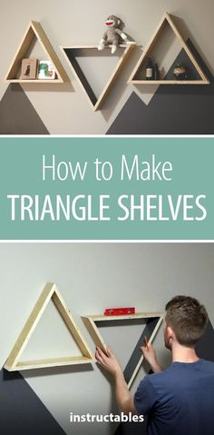How to Make Triangle Shelves #woodworking #organization #storage