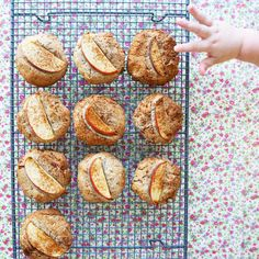 apple coconut & buckwheat breakfast cookies - my lovely little lunch box Delicious Cookie Recipes, Sweet Recipes, Whole Food Recipes, Dessert Recipes, Yummy Food, Meals Kids Love, Healthy Meals For Kids, Healthy Baking, Baby Led Weaning