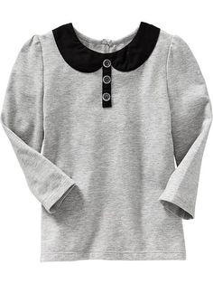 Poplin-Collar Tees for Baby   Old Navy