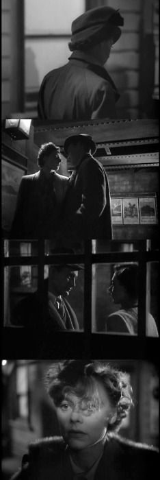 'Brief Encounter' starring Celia Johnson as Laura and Trevor Howard as Alec. Martin Scorsese, Stanley Kubrick, Alfred Hitchcock, Romantic Movies, Most Romantic, David Lean, Brief Encounter, Fritz Lang, Light Film