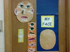Face body part label with pictures and words with a provided model (for students who are still unable to correctly and independently label face/place body parts in correct location, but are past an errorless level of instruction)