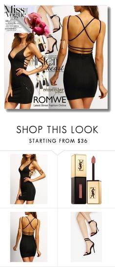 """""""Romwe 5/4"""" by pesanjsp ❤ liked on Polyvore featuring Yves Saint Laurent"""