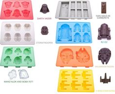 Party Ice Cubes Cool Drinks Stars Wars Themes Candy Mold Tray Darth Vader Shape  #VibrantKitchen