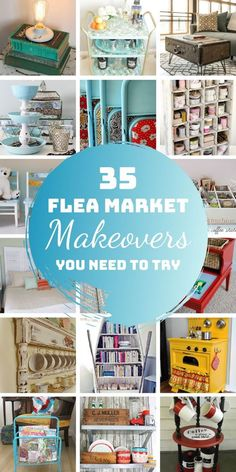 35 Amazing Repurposed Flea Market Finds that Will Make Your Home Look Fabulous. This is the inspiration you need for your flea market finds! Thrift store decorating ideas - repurposed makeovers for furniture and other people's junk! Thrift Store Diy Clothes, Thrift Store Furniture, Thrift Store Crafts, Repurposed Furniture, Thrift Stores, Refurbished Furniture, Garden Furniture, Painted Furniture, Furniture Design