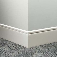 "Johnsonite Reveal Millwork Wall Base, 4-1/4"" x 8 ft. Lengths - 8 Pack (64 ft.)"