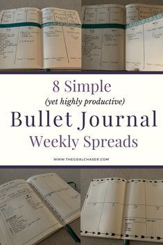 Sometimes you have the time, energy and interest to create beautiful weekly spreads in your bullet journal. And othertimes, life is just too busy and you need a quick and simple set up to get on with your planning. I always find that the more practical and simple the weekly layout in my bullet journal, the more productive I am. via @thegoalchaser #bulletjournaling #bulletjournalweeklylog