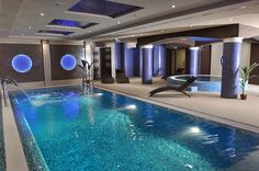 Luxury Bachelors Pad, Indoor Pool w/ Jacuzzi . Indoor Swimming Pools, Swimming Pool Designs, Villa, Luxury Pools, My Pool, H & M Home, Dream Pools, Beautiful Pools, Cool Pools